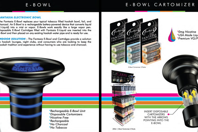 The fantasia e-bowl offers a complete electronic hookah vaping experience right out of the box and offers the convenience of plug and play flavors from the fantasia line.