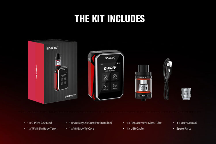Smok G Priv E Mod G Priv E Mod | Brand New touch screen vaping experience from G Priv 220. For meeting up with the popularity of high power, the battery endurance time and performance of G Priv 220 is excellent, which is powered by two external batteries. Both the super big 2.4″ touch screen […]