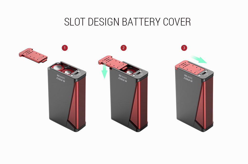 H Priv Vaping Kit Battery Cover Design