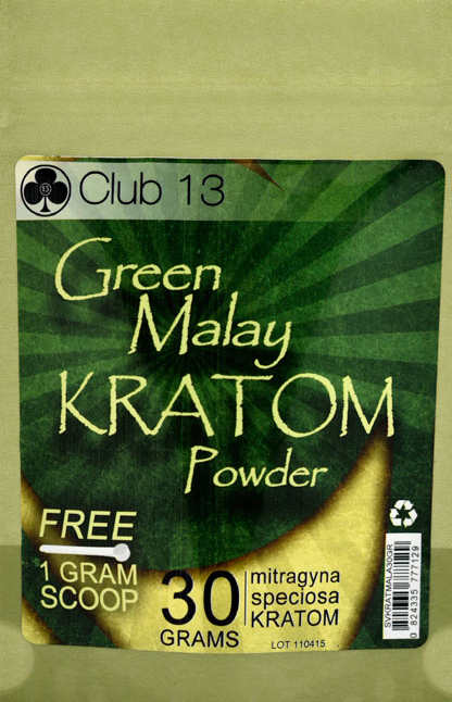 Club-13-Green-Malay-Vein-Kratom-Pure-Powder