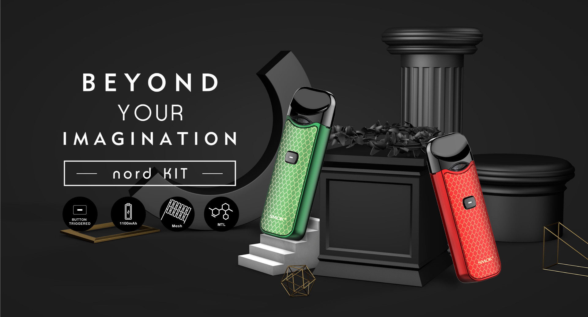 A pod system that combines sub-ohm vaping with regular MTL experience – It's Nord Kit by Smok™